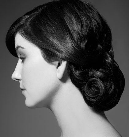 Amazing hair style and hair stylist beauty makeup